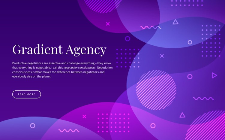 Gradient agency CSS Template
