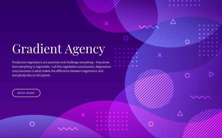 Gradient agency Joomla Template