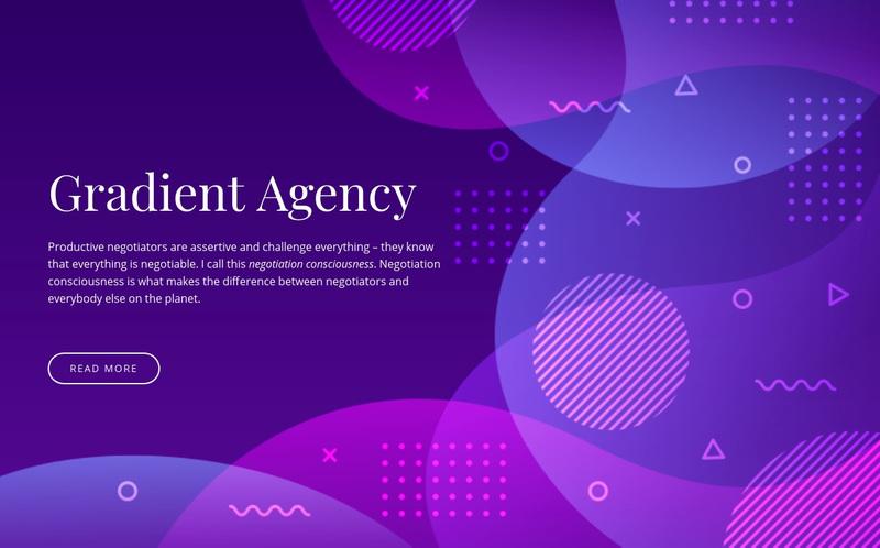Gradient agency Web Page Design
