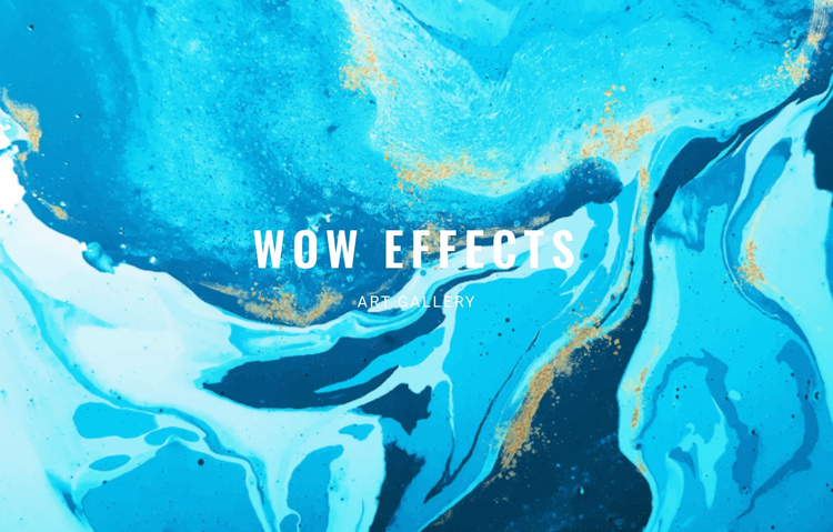 Wow effects  One Page Template