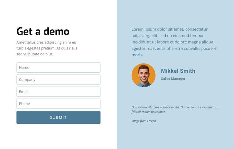 Get a demo WordPress Theme