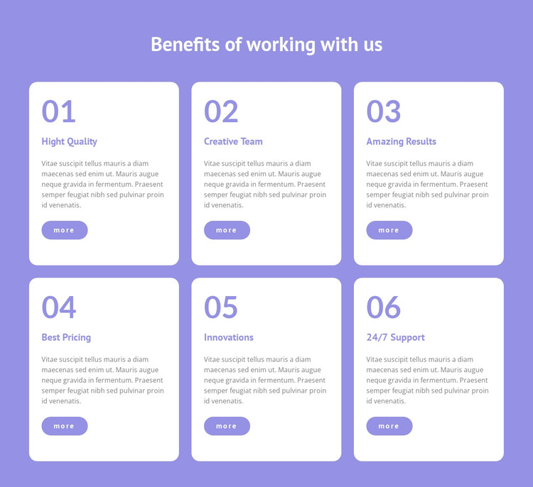 We provide flexible working HTML Template