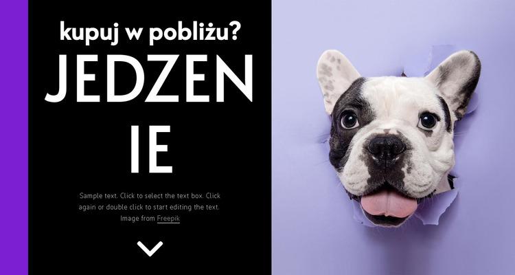 Karma dla psów Szablon Joomla
