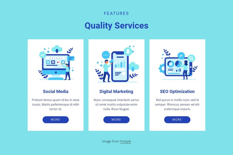 Quality services Html Code Example
