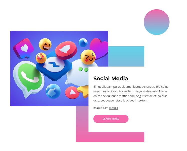 Social media HTML Template