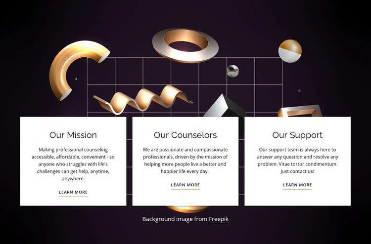 About our company Website Template