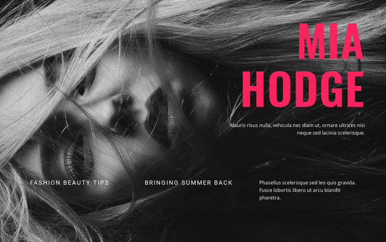 modern music and Entertainment Website Template
