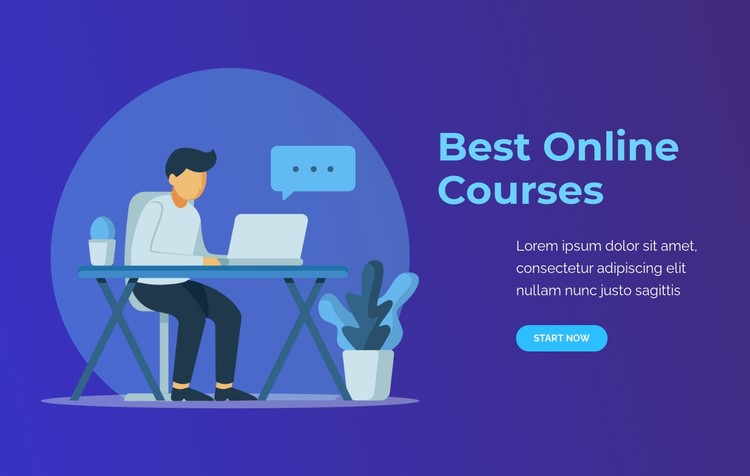Best Online courses CSS Template