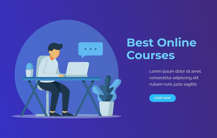 Best Online courses Website Mockup