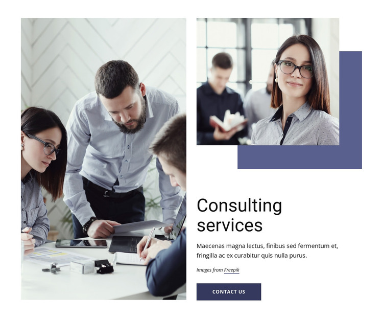 Marketing, organization, operations HTML Template