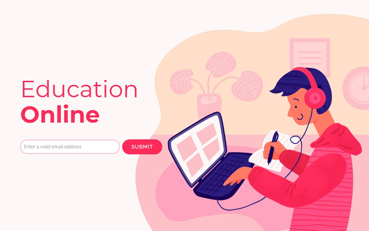 Digital learning One Page Template