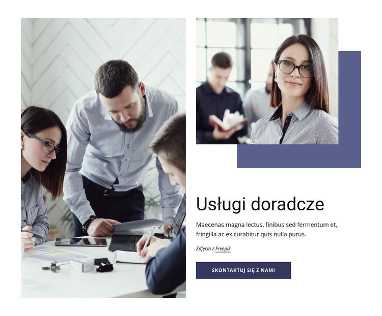 Marketing, organizacja, operacje Szablon witryny sieci Web