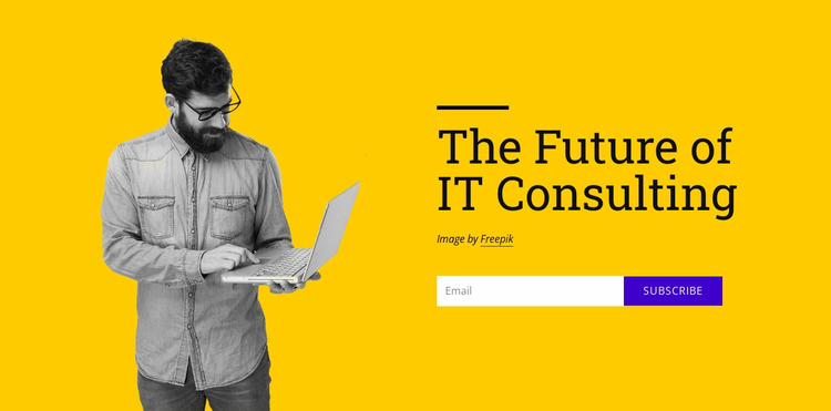 The future of it consulting Website Mockup