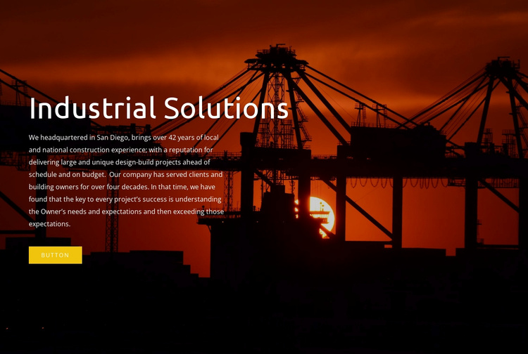 Industrial solutions Website Template