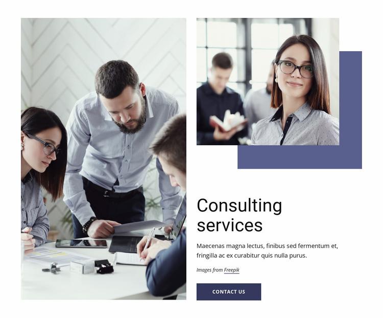Marketing, organization, operations Website Template