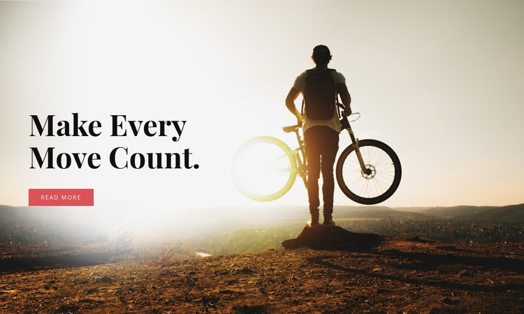 Cycling in the mountains HTML Template