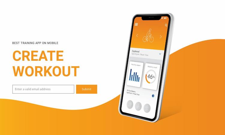 Create workout  Website Design