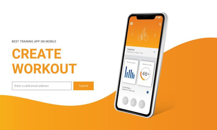 Create workout  WordPress Theme