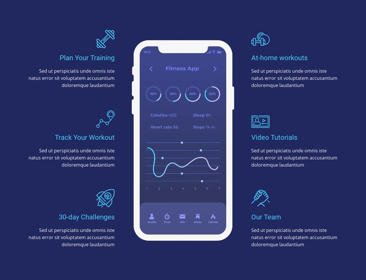 Workout app for tracking CSS Template