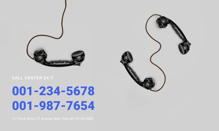 Call center Html Code Example