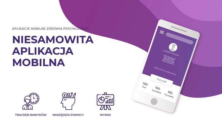 Aplikacja i technologia mobilna Szablon witryny sieci Web