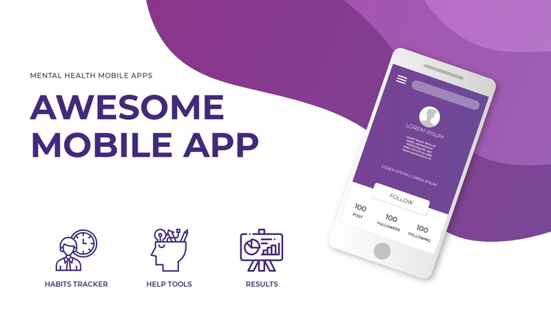Mobile app and technology Web Page Design