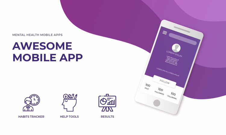 Mobile app and technology Landing Page