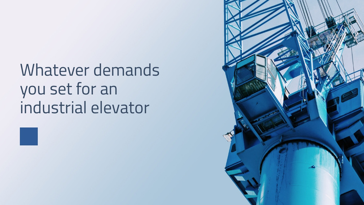 Industrial elevator Website Template