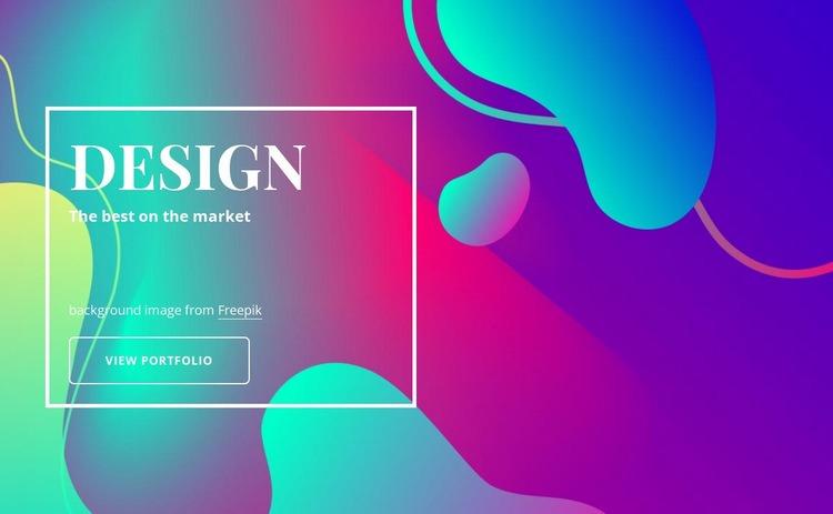 Design and illustration agency Homepage Design