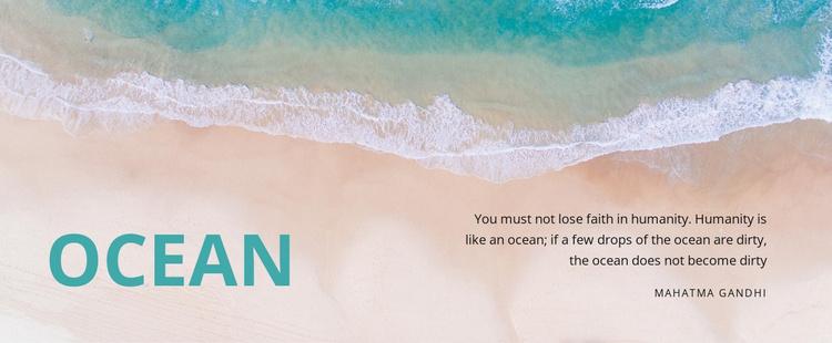 Nature ocean Website Template