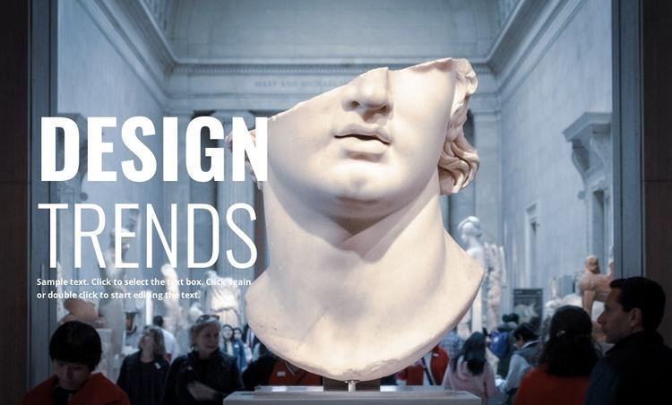 Contemporary museums Web Design
