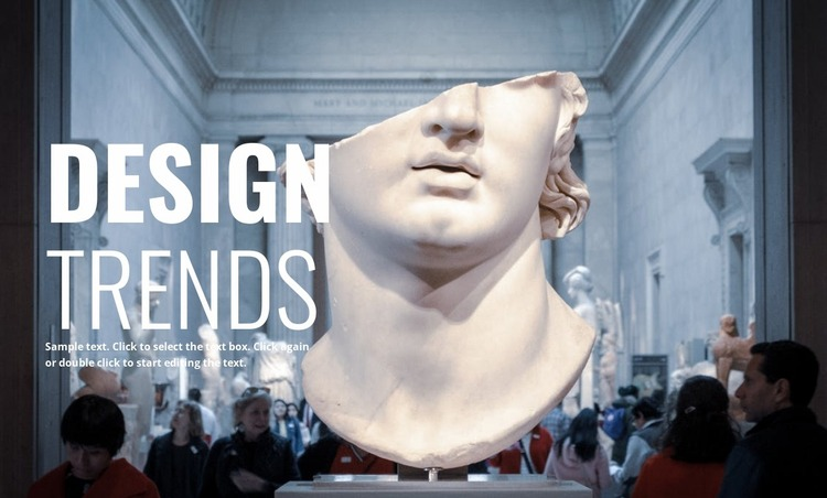 Contemporary museums Website Mockup