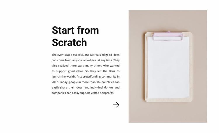 Start from scratch Website Template