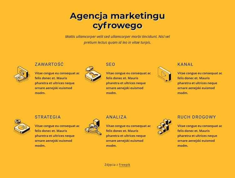 Konsultacja usług SEO SEO Szablon witryny sieci Web