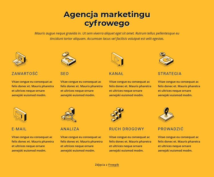 Agencja marketingu internetowego Szablon witryny sieci Web