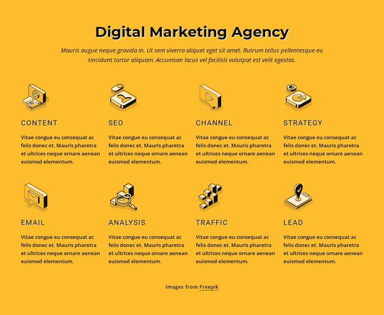 Internet marketing agency Website Template