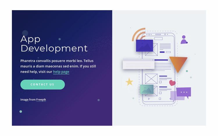 Professional app development Website Template