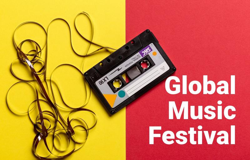 Global music festival  Web Page Design