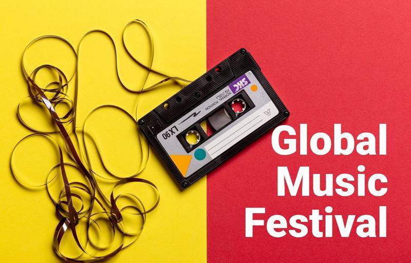 Global music festival  Web Page Designer