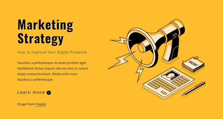 State your marketing goals Website Template