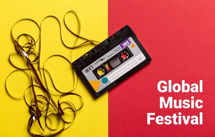 Global music festival  Website Template