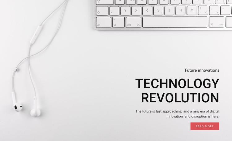 Technology and equipment revolution Html Website Builder
