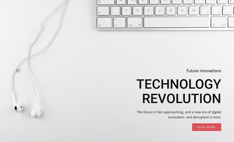 Technology and equipment revolution HTML5 Template