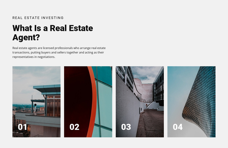 Top real estate agents One Page Template