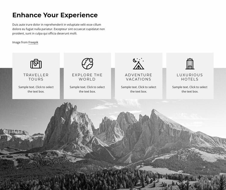 Enhance tour experience Website Template