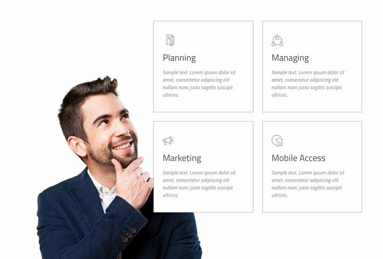 We design better businesses Website Template