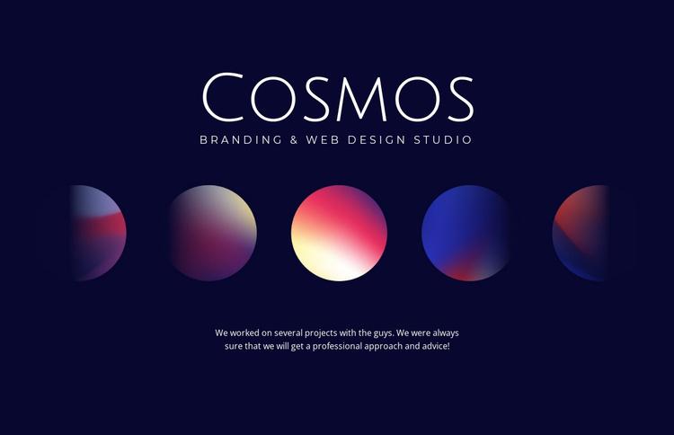 Cosmos art Website Template