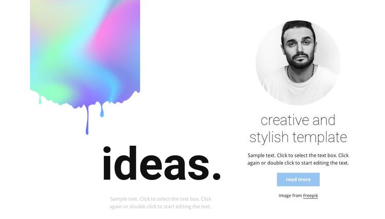 Creative and stylish HTML Template