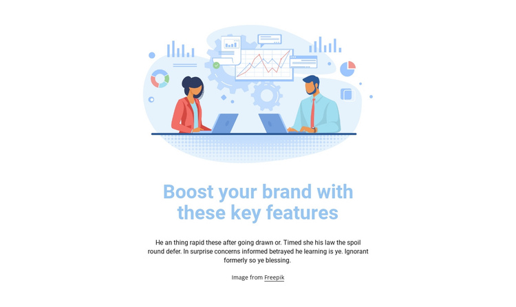 Business illustration One Page Template