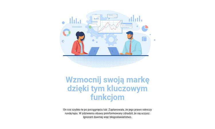 Ilustracja biznesowa Szablon witryny sieci Web